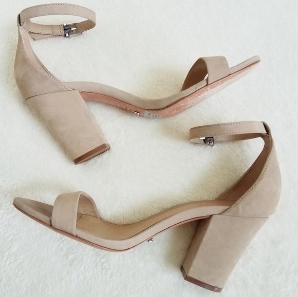 f864165dce8 Schutz Jenny Lee Nude Open Toe Chunky Heel Sandal